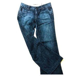 Gap Jeans Dark Blue Wide Leg Dressy Lmtd Edition